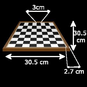 echiquier dimensions blanc